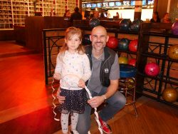 Nick Niehaus and daughter at JA Bowl A Thon