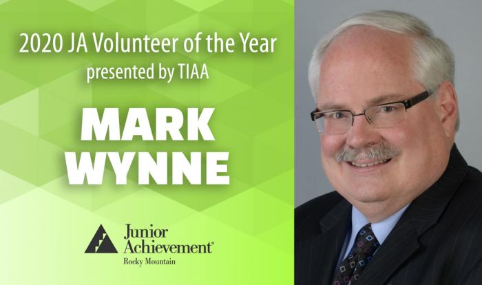 Mark Wynne - JA 2020 volunteer of the year presented by TIAA
