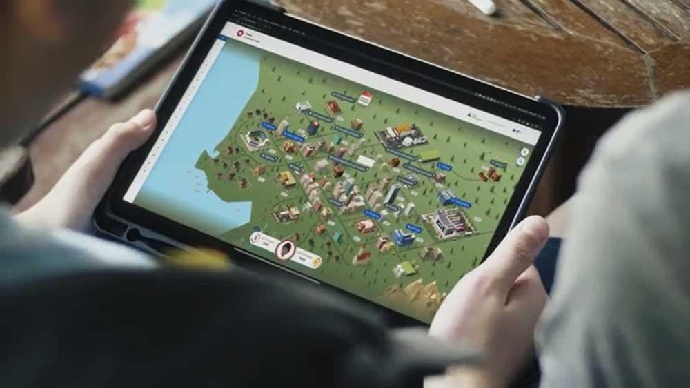 Advanced JA Finance Park virtual simulation on tablet