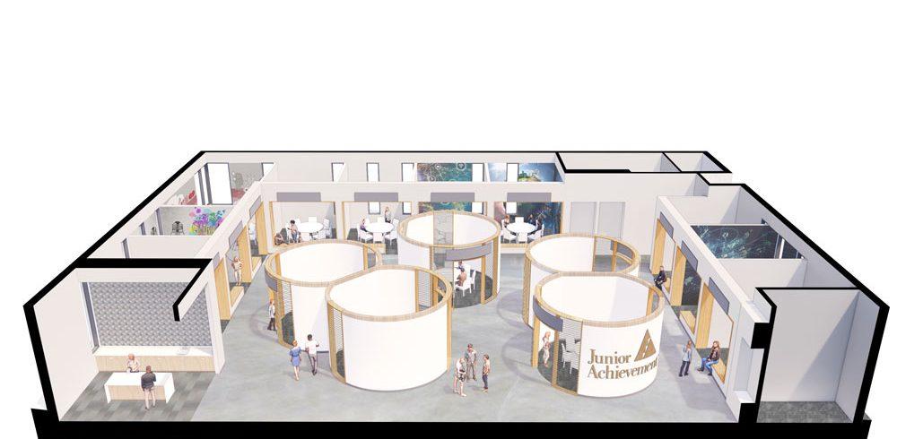rendering of JA finance park overhead view